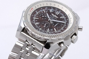 Cool Breitling Bentley Lille Date Automatic Movement sølv urkass