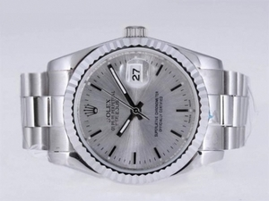 Gorgeous Rolex Datejust Automatic med Silver Dial AAA Ure [L5D7]