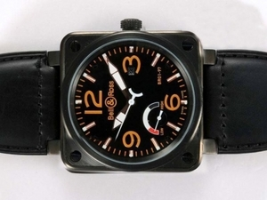 Beliebte Bell & amp; amp; Ross BR 01-97 Working Power Reserve Automatic Black Dial AAA Uhren [V7K9]