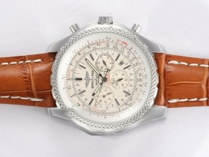Coole Breitling for Bentley Motors Chronograph Automatik mit weißem Zifferblatt AAA Uhren [P6M4]