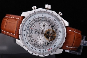 Breitling for Bentley Superbe Tourbillon Automatique bracelet en cuir brun AAA Montres [de C4X7]