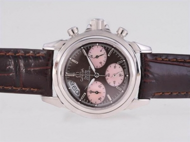 Gorgeous Omega De Ville Working Chronograph with Brown Dial and Strap AAA Watches [S5M1]