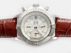 Fancy Breitling Skyland Avenger Chronograph Automatic with White Dial AAA Watches [D6F2]