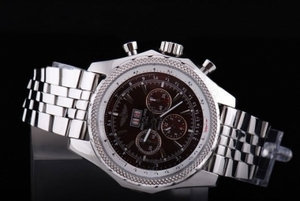 Quintessential Breitling Bentley 6.75 Big Date Automatic Silver Case with Brown Dial AAA Watches [M8P3]