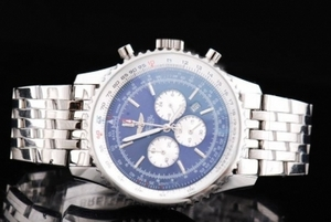 Quintessential Breitling Navitimer Chronograph Quartz Movement Silver Case AAA Watches [S8M2]