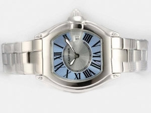 Cool Cartier Roadster with Blue Dial-Ladys Model AAA Watches [R3A4]