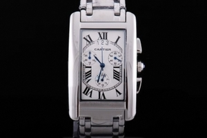 Cool Cartier Tank Americaine Working Chronograph Quartz Movement AAA Watches [L7I1]
