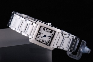 Fancy Cartier Tank with White Dial Lady Size AAA Watches [N1L8]