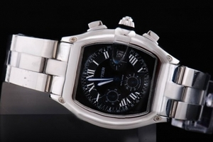 Great Cartier Roadster Chronograph Automatic with Black Dial Man Size AAA Watches [M8G9]