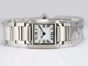 Vintage Cartier Tank with White Dial Lady Size AAA Watches [V4E4]