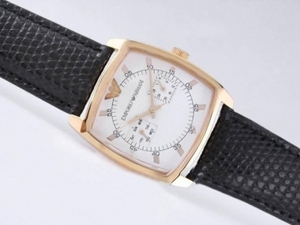 Fancy Emporio Armani Chronograph Gold Case with White Dial AAA Watches [N6W6]