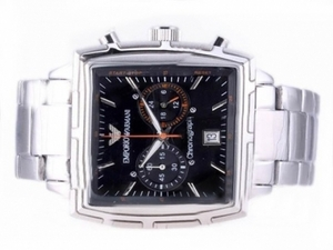 Fancy Emporio Armani Classic Working Chronograph with Black Dial AAA Watches [Q2L1]