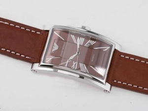 Fancy Emporio Armani with Brown Dial and Strap-Roman Marking AAA Watches [O4O8]