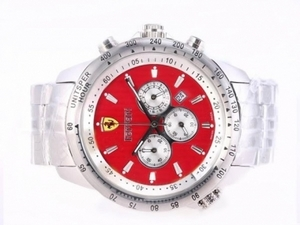 Cool Ferrari Working Chronograph with Red Dial AAA Watches [C6N3]