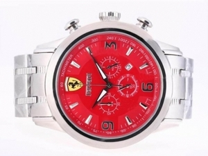 Cool Ferrari Working Chronograph with Red Dial AAA Watches [T5H1]