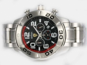 Cool Girard Perregaux Ferrari Working Chronograph with Black Dial AAA Watches [J6F6]