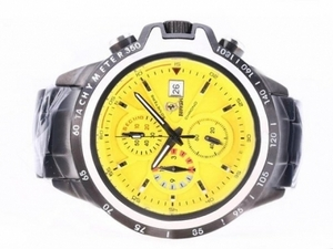 Fancy Ferrari Working Chronograph Full PVD with Yellow Dial AAA Watches [W9G4]