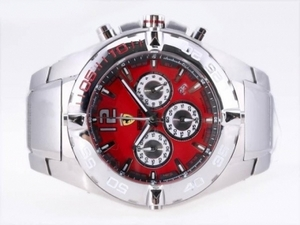 Fancy Ferrari Working Chronograph with Red Dial-New Version AAA Watches [N8A9]