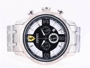 Gorgeous Ferrari Working Chronograph with Black Dial AAA Watches [T5L3]