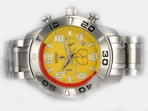 Gorgeous Girard Perregaux Ferrari Working Chronograph with Yellow Dial AAA Watches [O4S9]