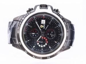 Great Ferrari Working Chronograph Full PVD with Black Dial AAA Watches [U5T2]