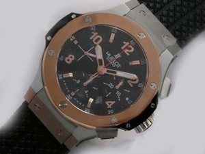 Cool Hublot Big Bang Chronograph Asia Valjoux 7750 Movement Two Tone AAA Watches [E4R9]