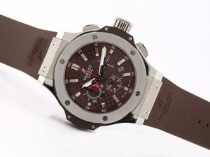 Cool Hublot Big Bang King Chronograph Asia Valjoux 7750 SS Case-Brown Dial AAA Watches [P6F7]