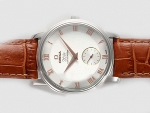 Perfect Omega Seamaster Deville Co-Axial Manual Winding with Rose Gold AAA Watches [C4R2]