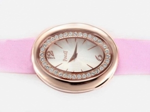 Cool Piaget Dream Team No1 Rose Gold Case with Diamond Bezel-White Dial AAA Watches [O1S6]