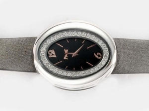 Cool Piaget Dream Team No1with Diamond Bezel-Black Dial AAA Watches [A7U1]