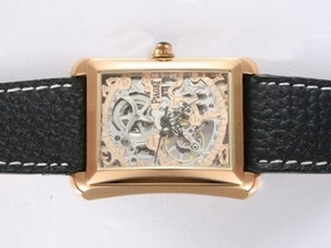 Gorgeous Piaget Emperador Skeleton Automatic Rose Gold Case AAA Watches [V5W6]