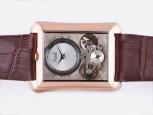Gorgeous Piaget Emperador Tourbillon Automatic Rose Gold Case-New Version AAA Watches [U5F3]