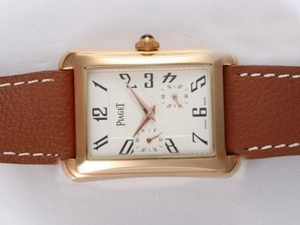 Great Piaget Emperador Automatic Rose Gold Case with white Dial AAA Watches [X6E3]