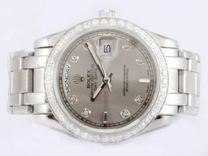 Cool Rolex Masterpiece Automatic Diamond Marking and Bezel with Gray Dial AAA Watches [B4B2]