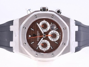 Fancy Audemars Piguet Royal Oak Asia Valjoux 7750 Movimento con Brown Dial AAA Orologi [D8R6]