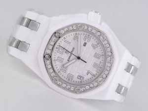 Gorgeous Audemars Piguet Royal Oak 30th Anniversary White Ceramic Diamond AAA Watches [T7V9]
