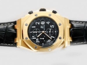 Gorgeous Audemars Piguet Royal Oak Offshore Working Chronograph Gold Case AAA Watches [P7O2]