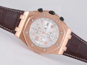 Gorgeous Audemars Piguet Royal Oak Offshore Working Chronograph Rose Gold AAA Watches [B7C8]