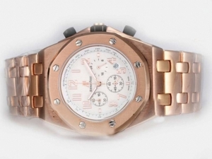 Gorgeous Audemars Piguet Royal Oak Offshore Working Chronograph Full Rose AAA Watches [L4D5]