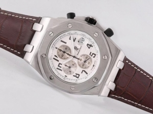 Great Audemars Piguet Royal Oak Offshore Working Chronograph with White Dial AAA Watches [N8W3]