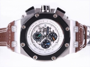 Great Audemars Piguet Ruben Baracello Working Chronograph with White Dial AAA Watches [J3D2]
