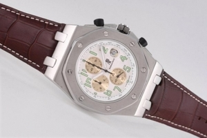 Perfect Audemars Piguet Royal Oak Offshore Working Chronograph with White Dial AAA Watches [R6W4]