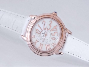 Quintessential Audemars Piguet Millenary Rose Gold Case with White Dial-Lady Size AAA Watches [R8J8]