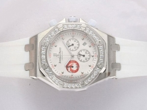 Quintessential Audemars Piguet Royal Oak Working Chronograph Diamond Bezel AAA Watches [K8C8]