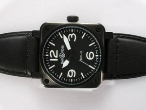 Cool Bell & Ross BR 01-92 Automatic PVD Casing with White Marking 38x38mm AAA Watches [M5B7]