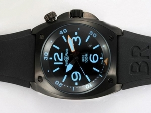 Cool Bell & Ross BR 01-92 Automatic PVD Casing with Blue Marking 46x46mm AAA Watches [T8S6]