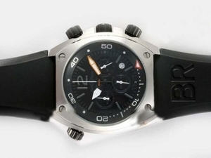 Cool Bell & Ross BR 02-94 Working Chronograph with Black Dial and Rubber Strap AAA Watches [G3G5]