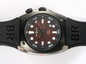 Cool Bell & Ross BR02 Instrument Diver PVD Casing with Brown Carbon Fibre AAA Watches [B7W6]