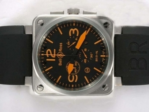 Gorgeous Bell & Ross BR 01-94 Working Chronograph Orange Marking AAA Watches [R8I3]