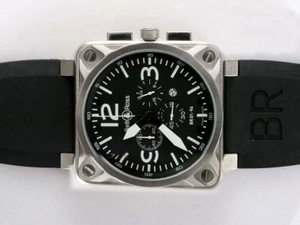 Gorgeous Bell & Ross BR 01-94 Working Chronograph AR Coating with Black Dial AAA Watches [N2S2]